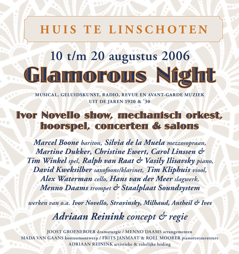 Glamorous Night, music & theatre from the 1920's and 1930's