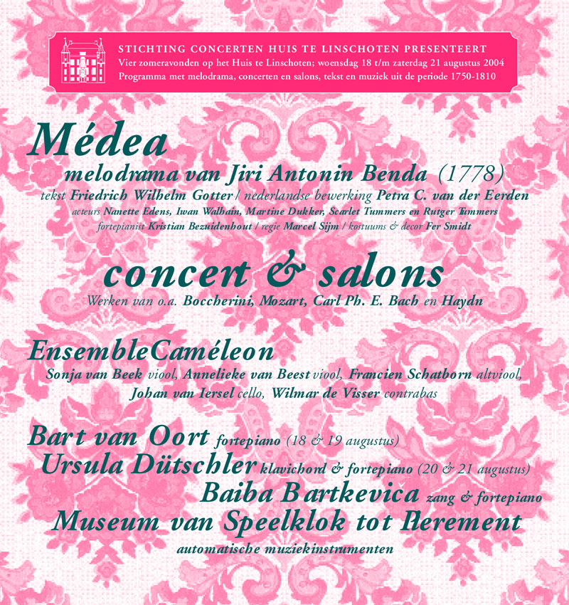 Medea, Concert & Salons – melodrama, music and theatre from 1750-1810