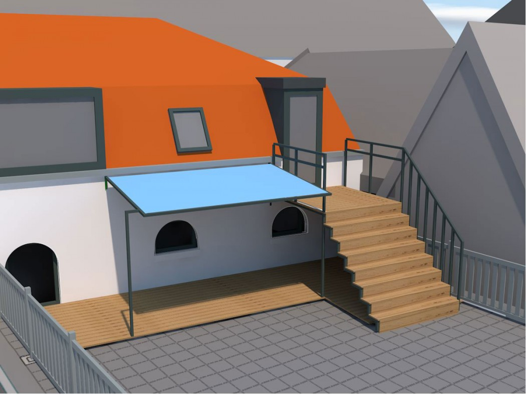 design and construction of canopy, stairs & shelter