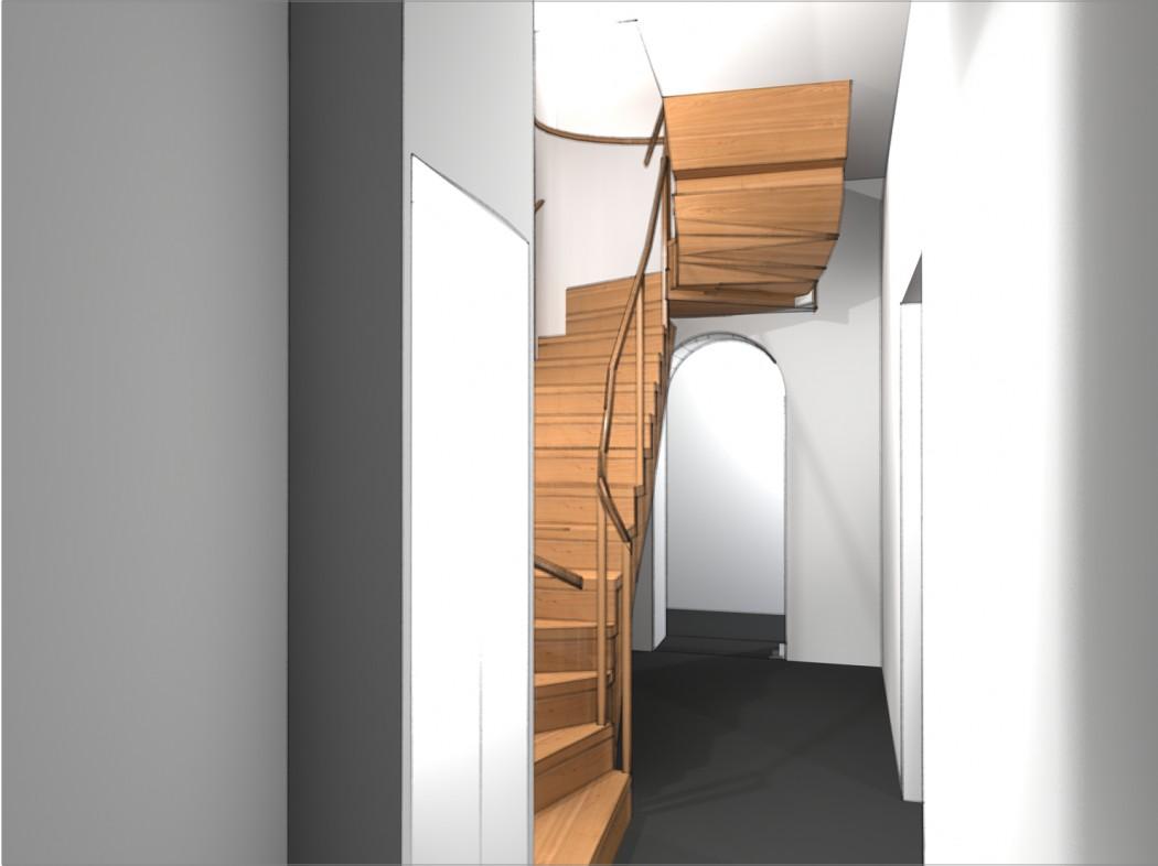 Design for monumental canal house in Utrecht